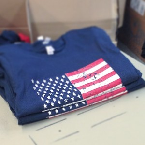 Screen Printed American Flag T-Shirt
