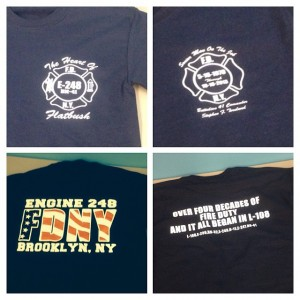 Screen Printing For FDNY in Brooklyn